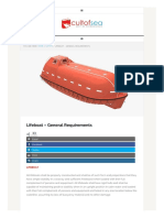 Lifeboat – General Requirements