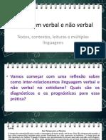 Linguagem Verbal e Nao Verbal Contextualizando