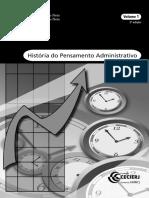 Historia Do Pensamento Administrativo vol 1