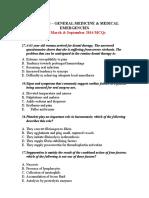 1000 Mcqs _ General Medicine & Medical Emergencies Plus September 2014 Mcqs