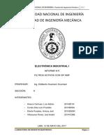 informe filtros 4TO INFORME DE ELECTRONICA INDUSTRIAL I