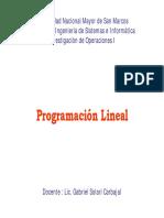 Lineal Programación