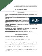 Bibliographie Cours Economie Politique Droit 2016-2017