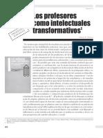 Los profesores como intelectuales transformativos
