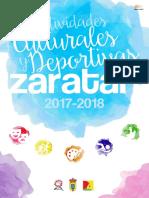 Zaratan Actividades Culturales y Deportivas 2017-2018