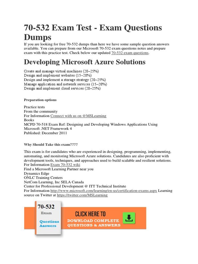Exam Ref 70-532 Pdf