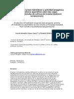 Producción de Enzimas Hidrolíticas y Actividad Antagónica De