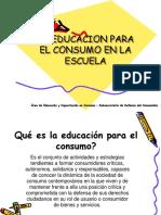 La Educación en Consumo en La Escuela