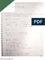Exercicios Geometria analitica