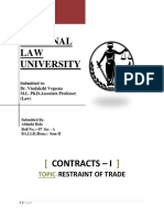 Restraint of Trade-contracts