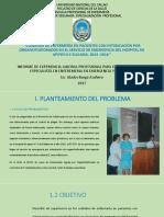 Diapositiva intoxicación por organofosforados en el hospital de apoyo 2-II Sullana, Piura - Perú.
