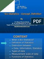 Intro to bio statistics