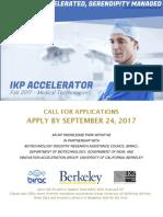 Ikp Accelerator Medtech Cohort Fall 2017