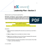 PersonalLeadershipPlan Section 3