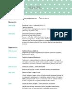 Curriculum Vitae (Traduccion)