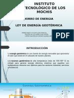 Ley de Energia Geotermica