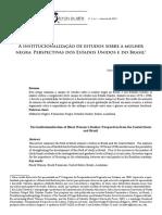 A Institucionalização de Estudos Sobre a Mulher