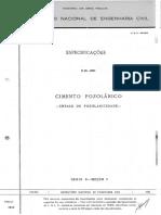 E 066 1960 - Especificação LNEC - Pozolanicidade - Portugal
