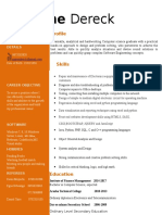 Cv Resume Word Template 552