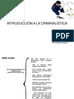Primera Clase Criminalistica