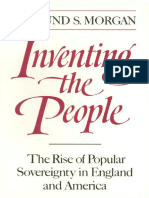 Edmund S Morgan Inventing the People the Rise of P