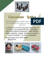 Aviso Chocolate leticia