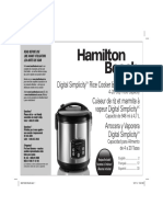 Hamilton Beach Rice Cooker Manual