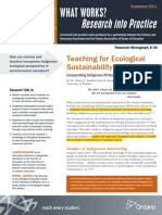teaching for ecological sustainability