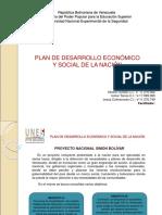 Plan de Desarrollo Economico y Social de La Nacion