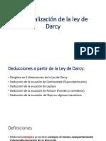 Generalización de La Ley de Darcy