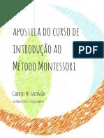 Nova Apostila Do Curso Montessori