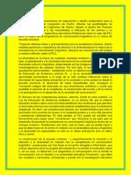 Diseño de Un Proyecto Linguistico