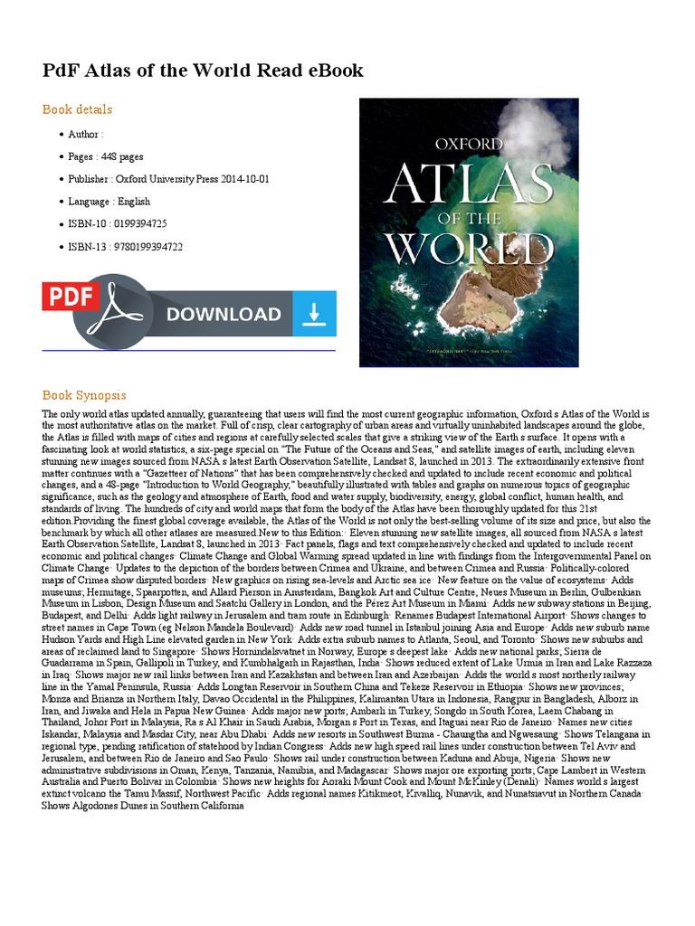 Atlas Of The World Pdf E Books Map