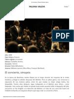 El Concierto, Película _ Paloma Valeva