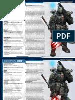 Starfinder Pre-Gen Soldier - All Levels