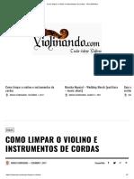 Como Limpar o Violino e Instrumentos de Cordas - Guia Definitivo Pag 1 e 2