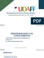Semana 01 - Epistemiologia y Conocimento
