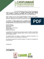Invitacion CATATUMBARI