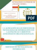1.4. Alineación de Los Servicios de Tecnologías de Información Con Las Políticas y Objetivos Estratégicos Organizacionales.