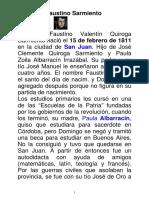 Bio Sarmiento y Crucigrama