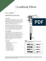 Industrial Loadbreak Elbow 200Amp Class 25KV Instruction Sheet