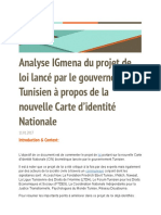 Projet Loi cin Tunisie