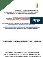 CONFERENCIA EL FENOMENO DE EL NIÑO Y FALSAS INTERPRETACIONES EN LAS REGIONES DE LAMBAYEQUE Y PIURA QUE OCULTAN RESPONSABILIDADES TECNICAS EN SU NOMBRE (2).pptx