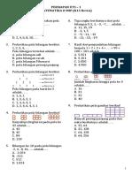 Genius Test 1 - Matematika 8 SMP K13 Revisi