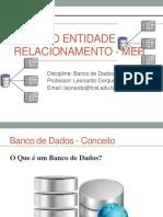 DER - Modelo Diagrama Entidade Relacionamento
