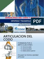 Anatomia y Semiologia Del Codo y Muñeca