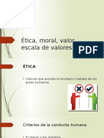 Ética, Moral, Valor, Escala de Valores (Final)