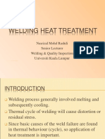 Welding heat treatment