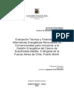 Evaluación Tecnica y Financiera de Alternativas Energéticas