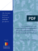 La constitucion como fuente primigenia de la independencia parcial del Juez. Edynson Alarcón.pdf